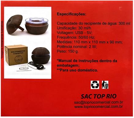 UMIDIFICADOR PARA AMBIENTES 300ML