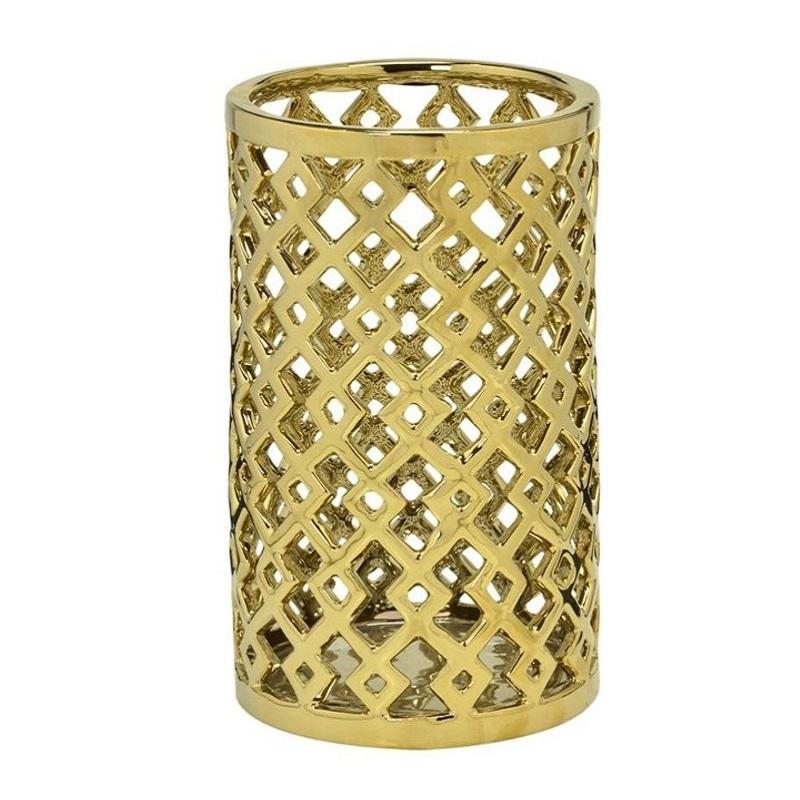 Vaso decorativo dourado 25,5 cm