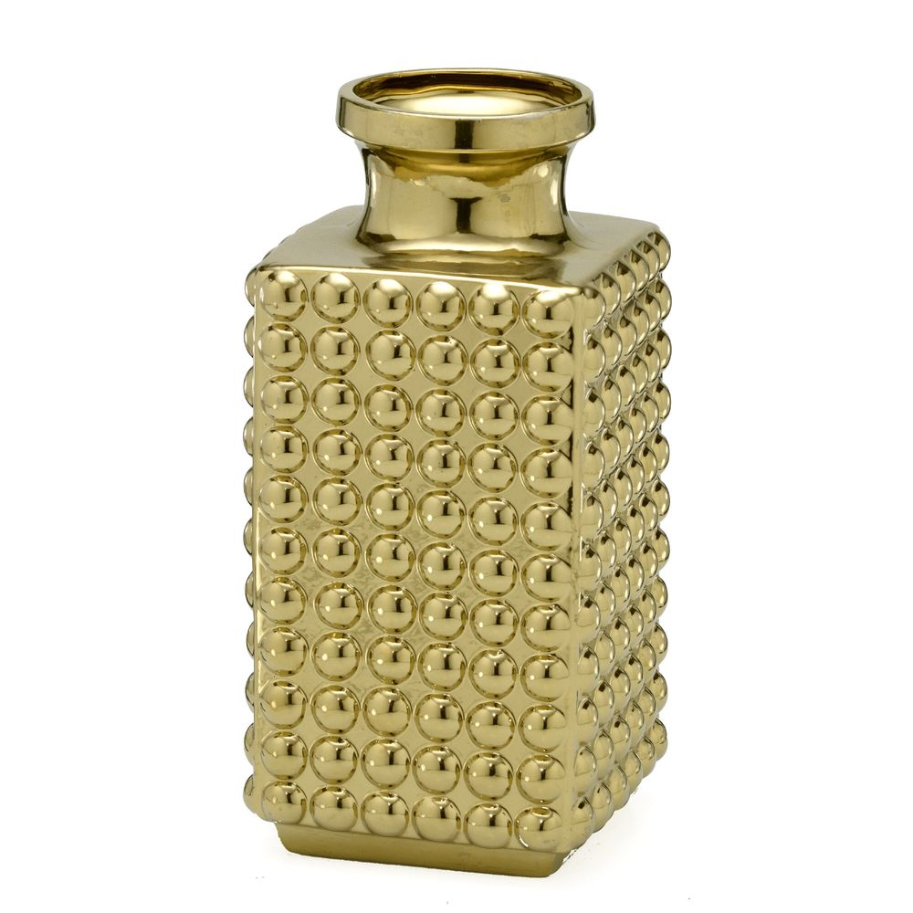 Vaso decorativo dourado 31,5 cm
