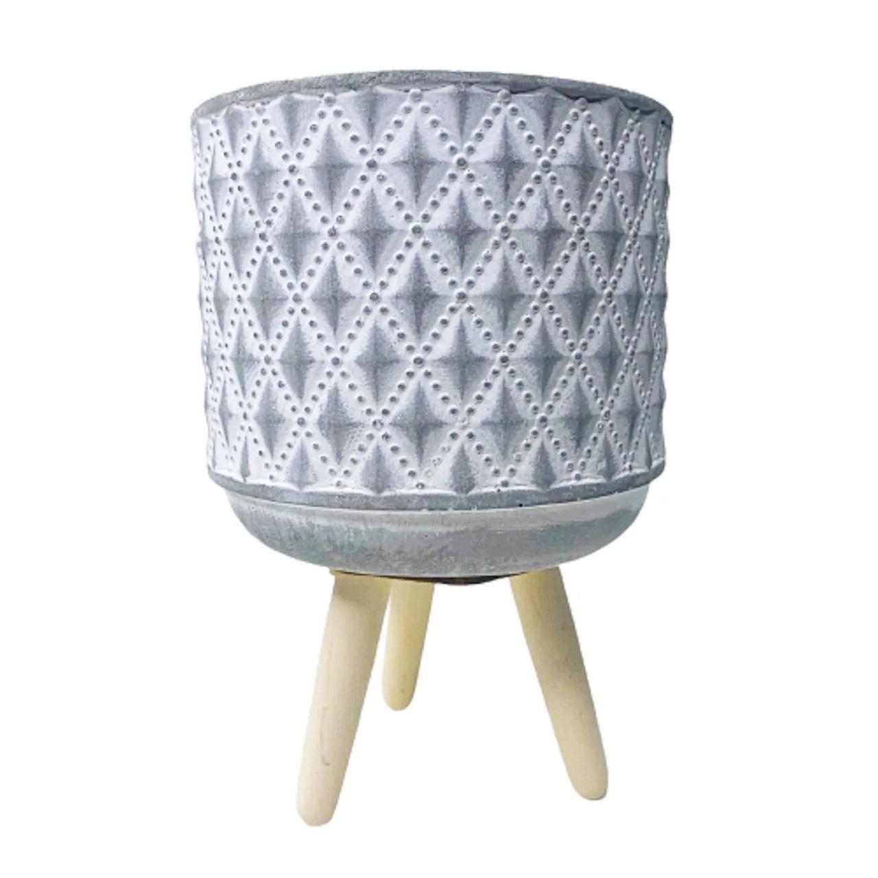Vaso de cimento com tripé