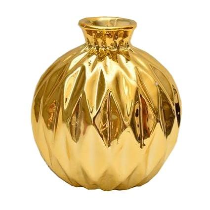 Vaso decorativo em porcelana metalizada 8,5 cm
