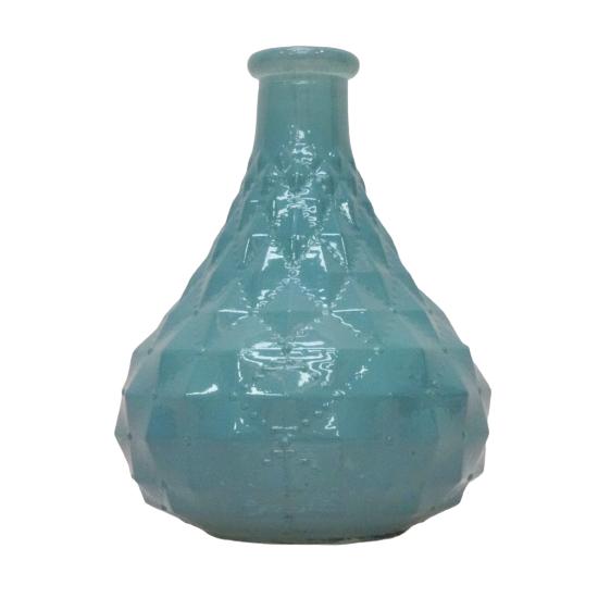 Vaso em vidro verde 13 cm
