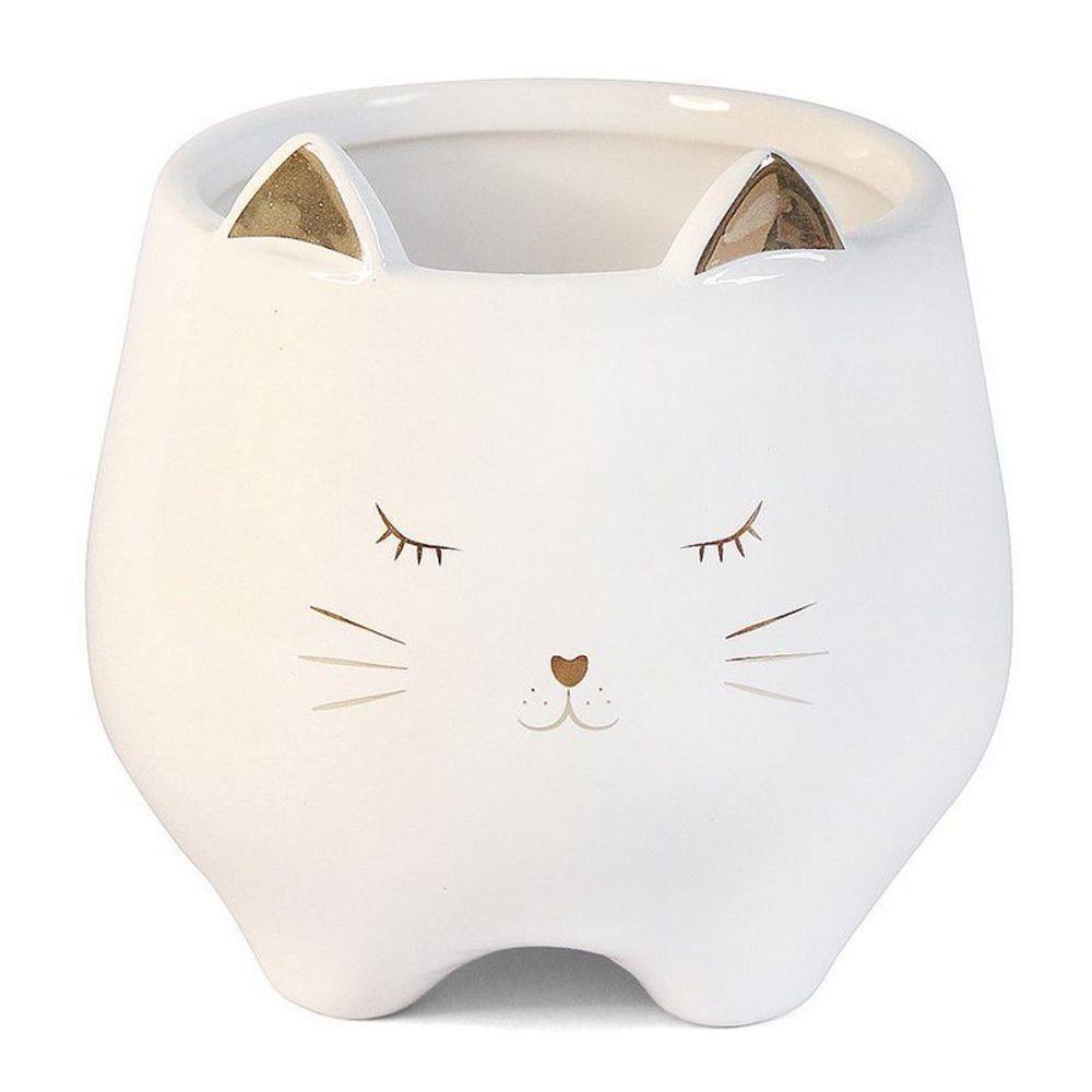Vaso Gato em cerâmica 10,7 cm