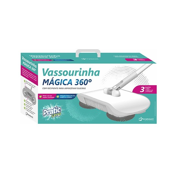 Vassoura mágica 360° 3 em 1
