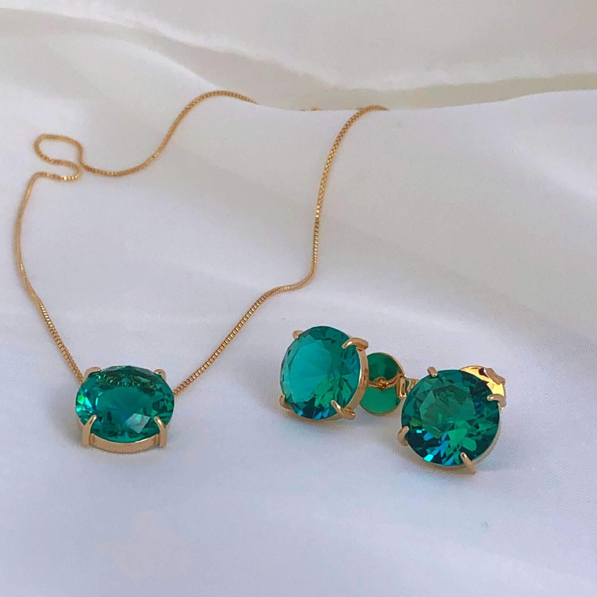 Conjunto verde esmeralda (item único) - Coleção Pedrarias