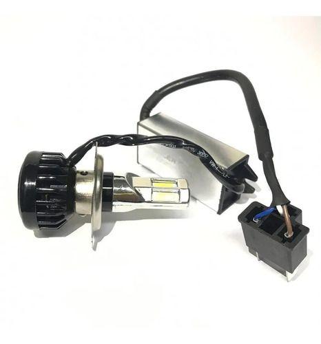Lampada Farol Moto Led H4/h6 12 16w/32w Com 6leds Tipo Xenon