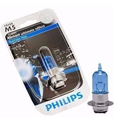Lampada Farol M5 Moto Blue Vision Biz Bros Ate 2012 Philips