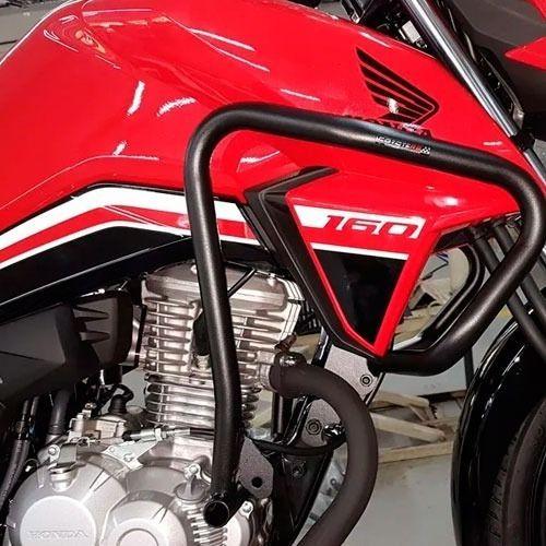 Kit Protetor De Motor E Carenagem + Protetor Tras Titan 160