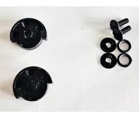 Kit Reparo Capacete Ebf E8 Escamoteável Fixação Queixeira