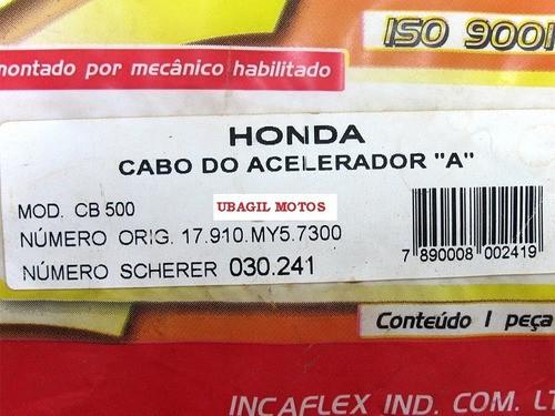 Cabo Acelerador Cb 500 A Original