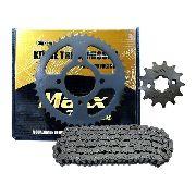 Kit Relação Transmissão Ybr 125 Factor 125 Ate 2014 Aço 1045 Anúncio com variação