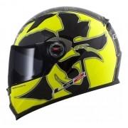 Capacete Moto Ls2 Ff358 Warrior Black / Yellow / Brilhante