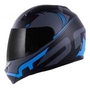 Capacete Norisk Ff391 Squalo Preto Fosco E Azul