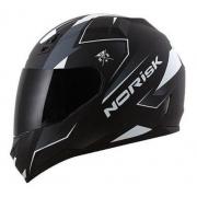 Capacete Para Moto Norisk Ff391 Stripes Preto E Branco