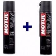 Kit Lubrificante Corrente Chain Clean C1 + Lube C3