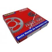 Kit Relação Transmissão Honda Nxr Bros 150 Original Hamp