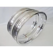 Par Aro Alumínio Polido + Raios 4mm Inox Xre Lander