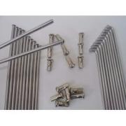 Raio Inox 4mm Xre 300 Dianteiro E Traseiro + Pastilhas Freio