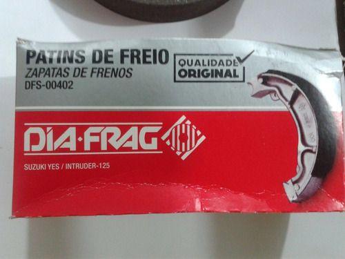 Pastilha Freio Dianteira E Lona Traseira Intruder 125