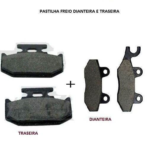 Kit Pastilha Freio Dianteira E Traseira Fazer 250