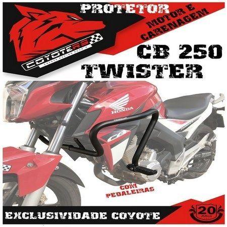 Protetor Motor E Carenagem Cb250 Twister 2015 A 2020 COYOTE