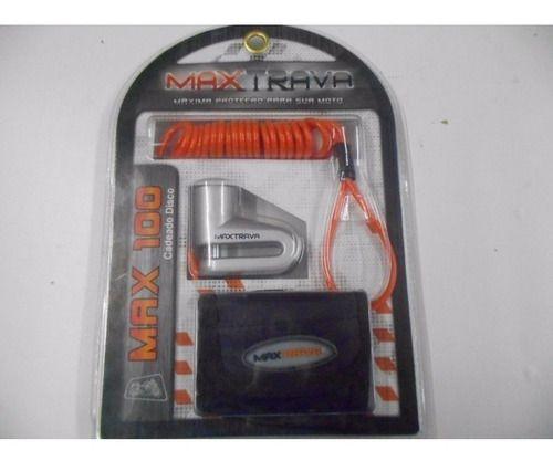 Cadeado Disco Moto Max Trava 5.5mm Com Lembrete