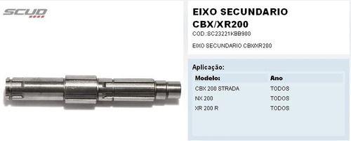 Eixo Secundario Cbx 200 Strada Xr 200 Nx 200