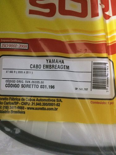 Cabo Embreagem Xt 660 R 2005 A 2011
