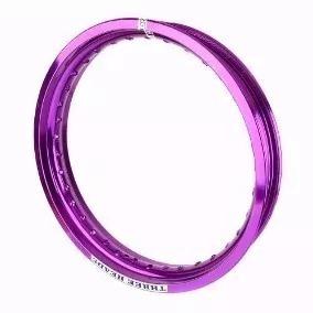 Aro Roda Aluminio 1.85 X 18 Violeta-roxo - Three Heads