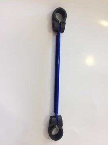Barra Guidão De Moto Em Aço Maciço Azul