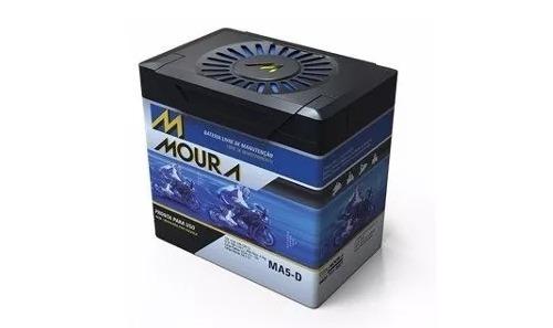 Bateria Ma-5 D Xre 300 Bros 150 Titan Mix Biz 125 - Moura