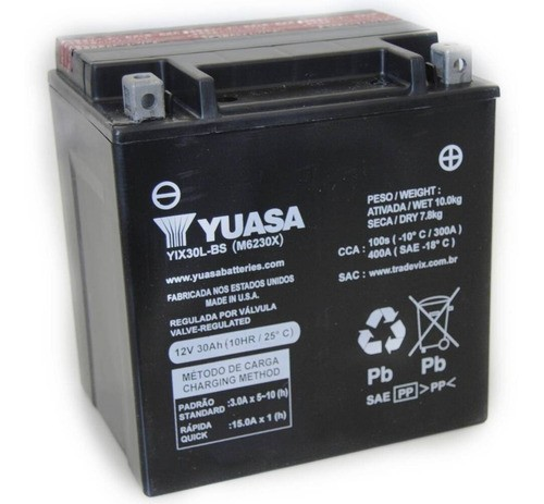 Bateria Yix30l-bs Harley-daividson-fl/flh1340 Sel Inmetro