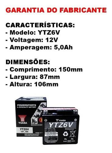 Bateria Ytz6v Titan 150 Mix Fan Bros Xre 300 Original