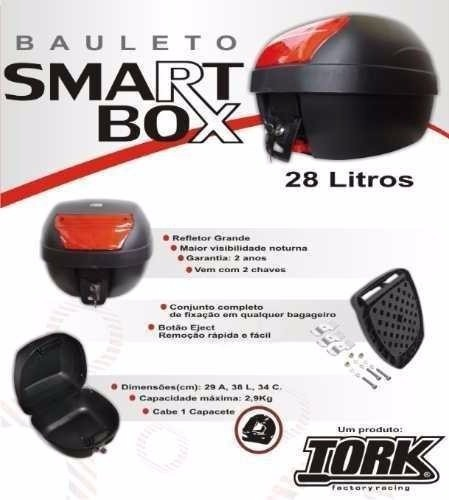 Bau Moto 28 Litros + Bagageiro Titan 150 2009 A 2013