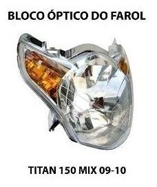 Bloco Optico Do Farol Com Lampada Titan 150 Mix 2009 E 2010