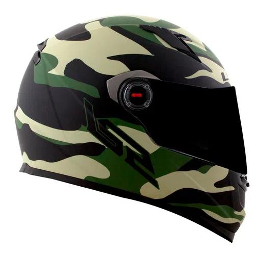 Capacete Army FF358 verde _ LS2