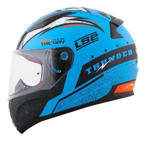 Capacete Ls2 Ff353 Rapid Thunder Azul
