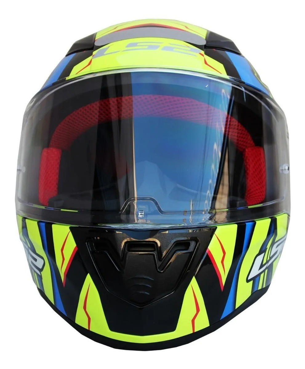 Capacete Ls2 FF353 Replica alex barros blue yellow