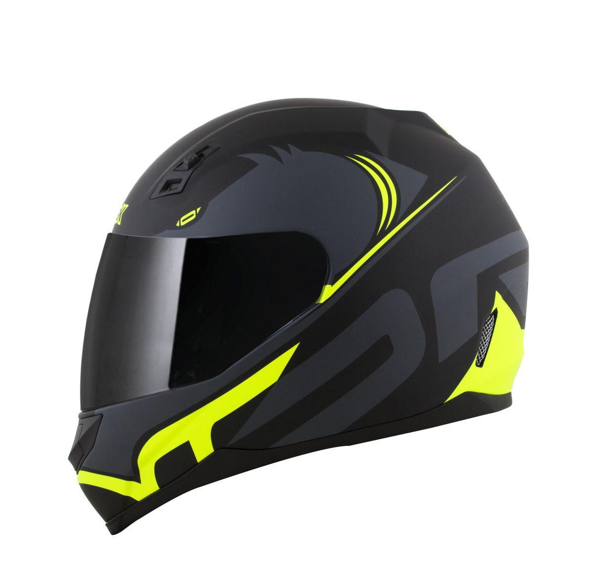 Capacete Norisk Ff391 Stunt Squalo Black/ Yellow
