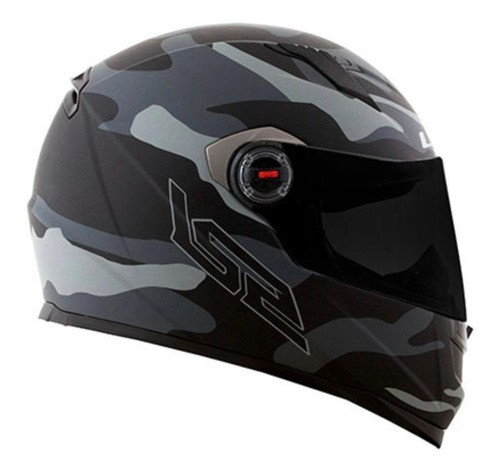 Capacete Para Moto Integral Ls2 Army Black E Grey