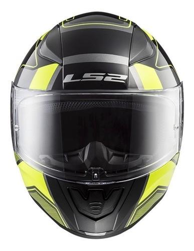 Capacete Para Moto Integral Ls2 Rapid Carrera Black E Hi-vis Yellow