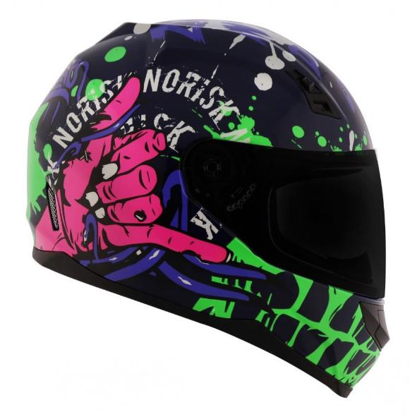 Capacete Zombie FF391 Azul/verde/pink - NORISK