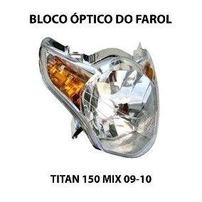 Carenagem + Farol Titan 150 Mix 2010 Vermelha