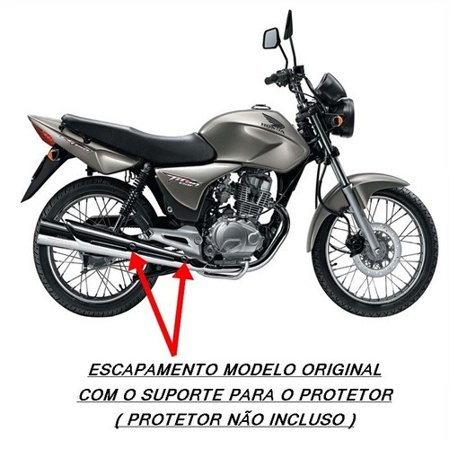 Escapamento Polimet Modelo Original Titan 150 Esd 2004/2008