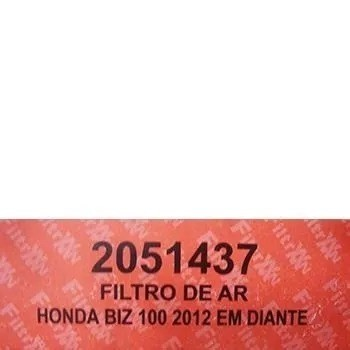 Filtro Ar Completo Biz 100 2012 Em Diante