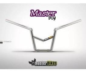Guidão Modelo Master Boy Titan Com Barra E Manopla Cromado