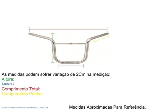 Guidão Modelo Original Pop 100 Preto