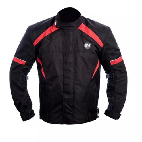 Jaqueta Moto Sbk V4 Impermeavel Preto/vermelha 2g