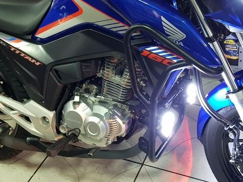Kit Protetor De Motor E Farol Milha + Protetor Tras Titan160
