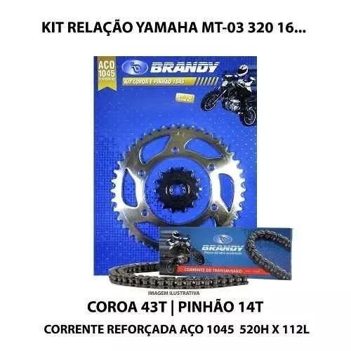 Kit Relação Brandy Yamaha Mt-03 320 16 Com Retentor Dourada
